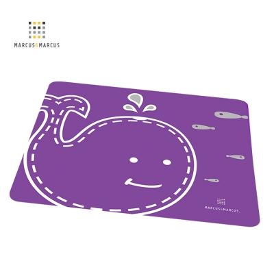 加拿大 MARCUS&MARCUS動物樂園矽膠餐墊(鯨魚)