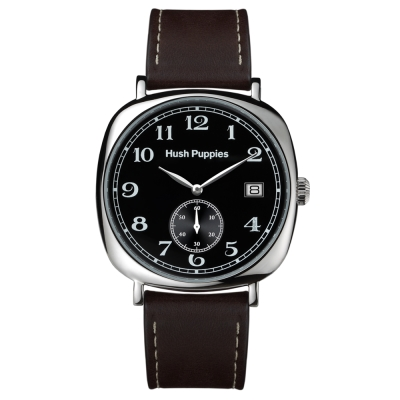 Hush Puppies 經典復刻懷舊腕錶-黑 /43mm
