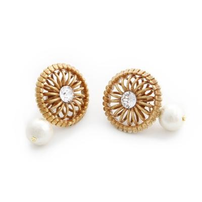 Luce Costante Ronde系列珍珠圓輪耳環(針式/耳扣式)