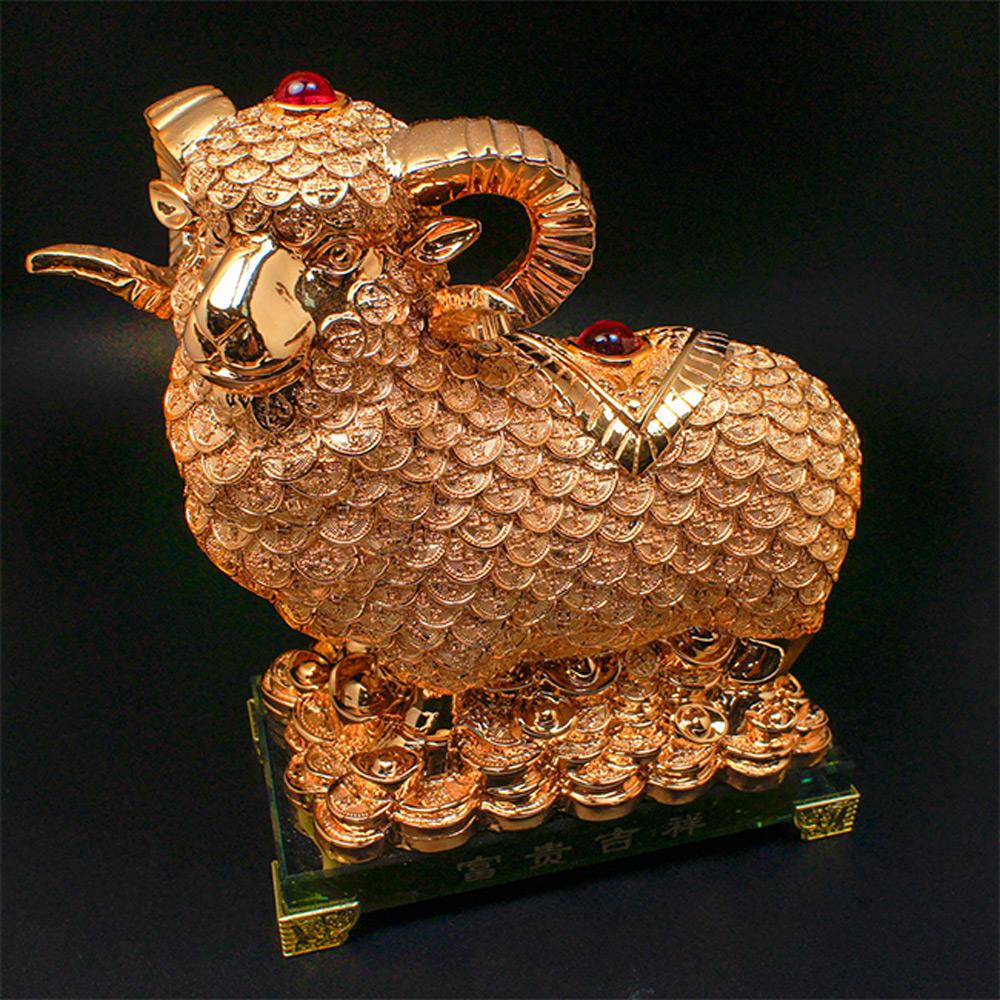 林真邑-富貴旺運招財大福羊擺件