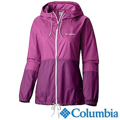 Columbia 哥倫比亞 女款-防潑風衣連帽外套-桃紅 (UKR30100FC)