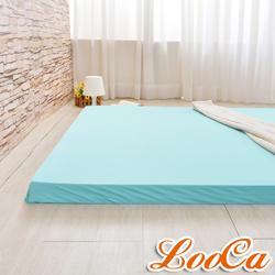 LooCa 綠能涼感護背5cm減壓床墊-單大3.5尺 搭日本大和涼感表布