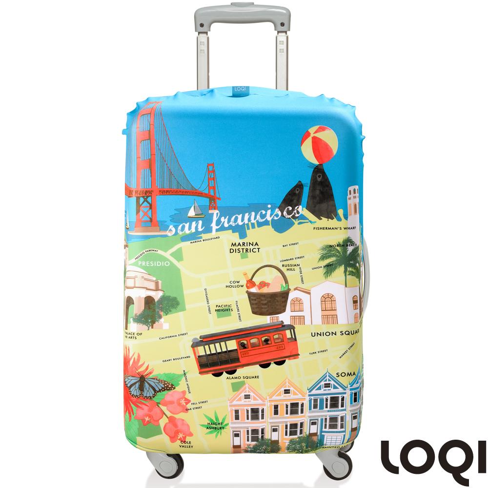 LOQI 行李箱套│-舊金山M號 適用22-27吋行李箱保護套