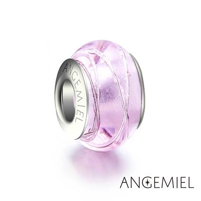 Angemiel安婕米 義大利純銀 琉璃串珠 粉色摩登