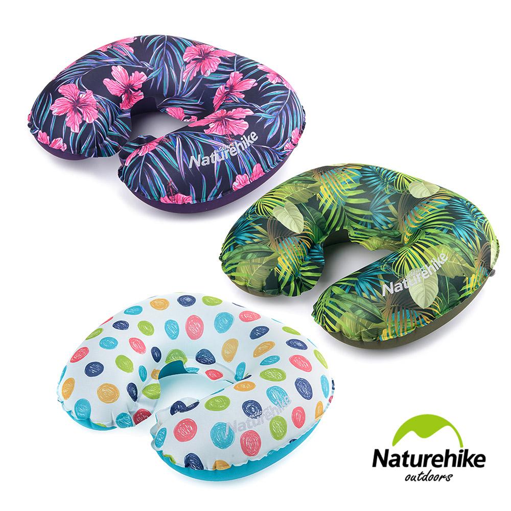 Naturehike TPU超輕量 護頸U型充氣枕 繽紛 新氣嘴 2入