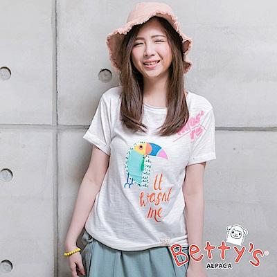 betty's貝蒂思 大嘴鳥短袖T-shirt(白色)