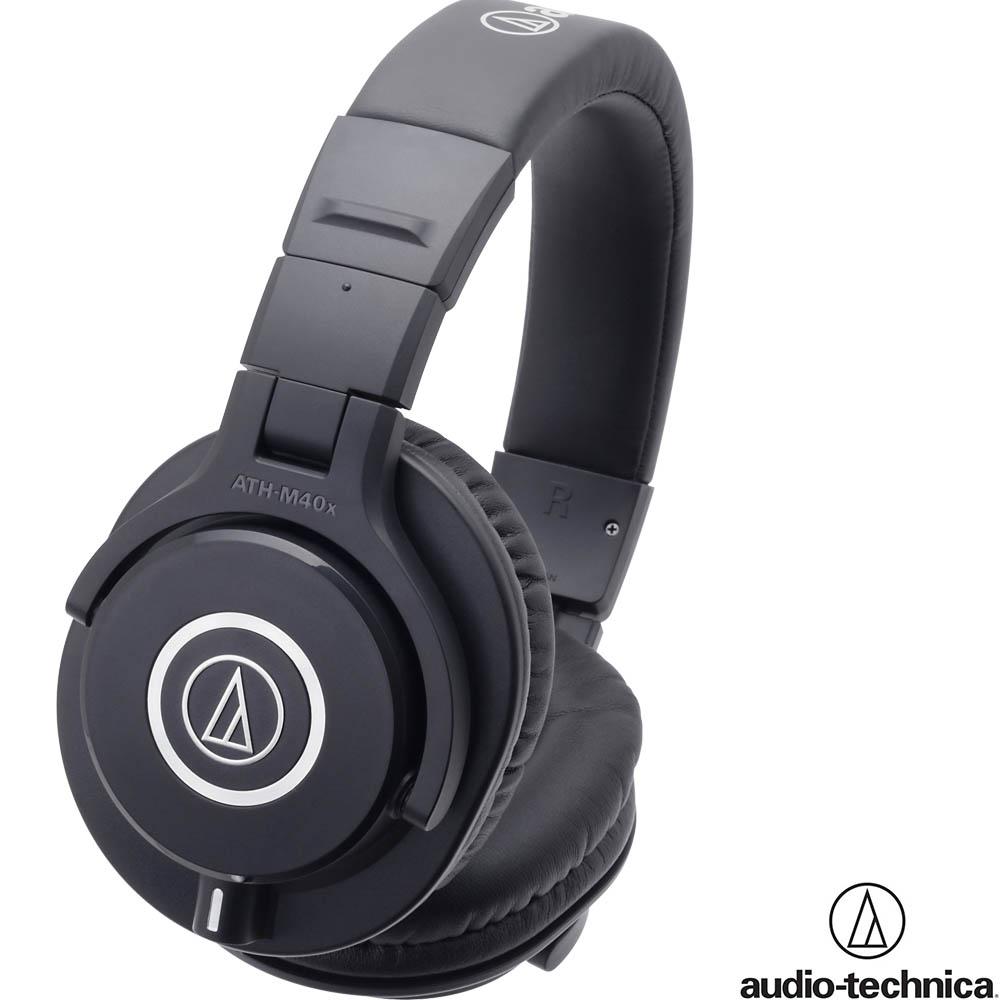 鐵三角 ATH-M40x 高音質錄音室用專業型監聽耳機 內附原廠攜存包