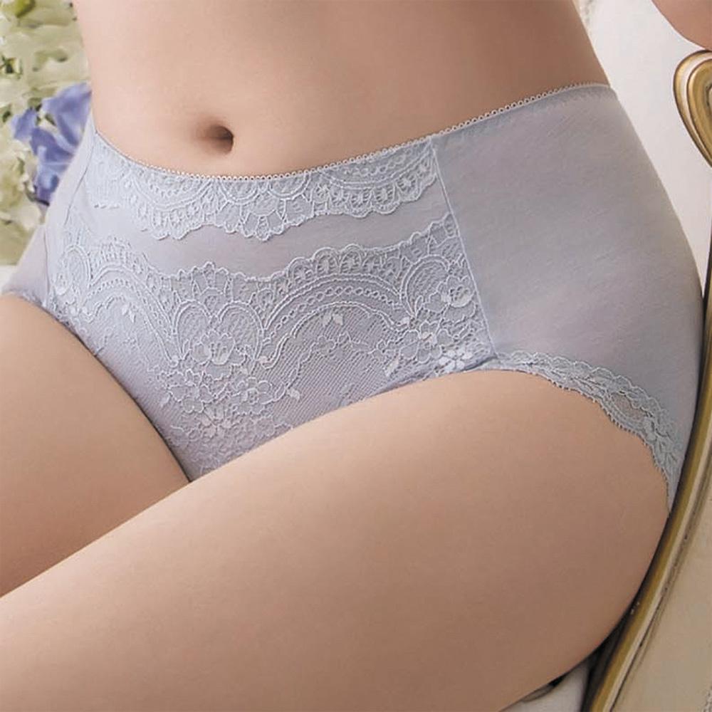 金華歌爾-寵愛 M-3L 中高腰三角褲(灰)絲蛋白素材