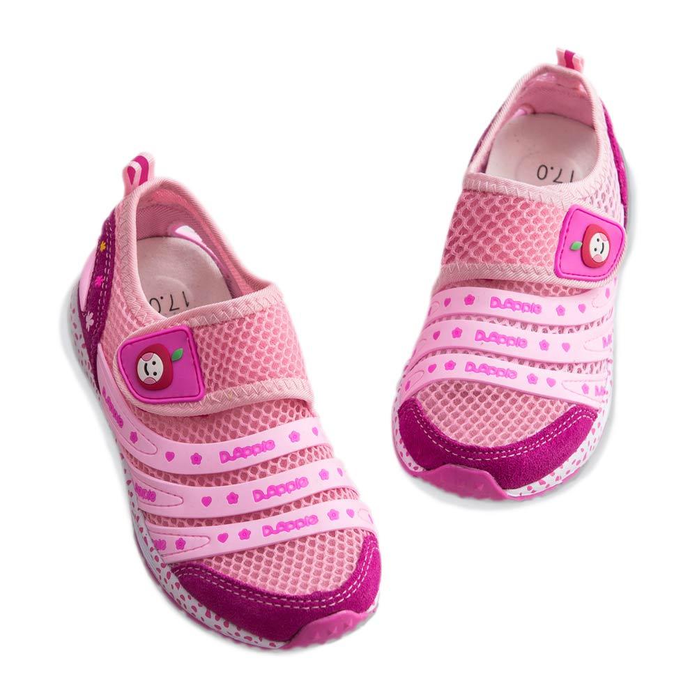 【Dr. Apple 機能童鞋】簡約流線透氣舒適童鞋 粉