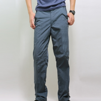 【遊遍天下】MIT台灣製中性保暖防風刷毛褲1261藍色