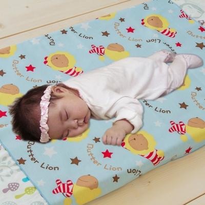 奶油獅-MIT-搖滾星星ADVANTA超防水保潔墊/生理墊/尿布墊-嬰兒75*90cm粉藍