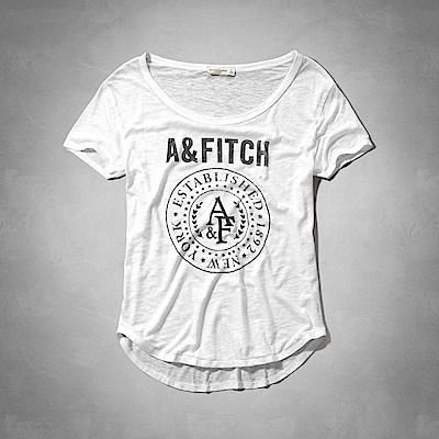 AF a&f Abercrombie & Fitch 女 短袖 T恤 白 0789