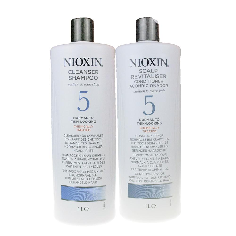 NIOXIN 耐奧森(儷康絲) 5號組合潔髮乳+甦活乳1000ML 公司貨