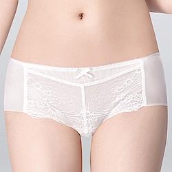 莎薇 O感覺好感洞 M-LL 低腰平口褲(白雲白)-冰涼 透氣