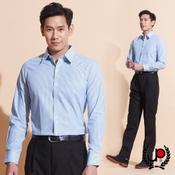 極品西服-紳士質男修身版長袖襯衫_藍綠(SW036-45)