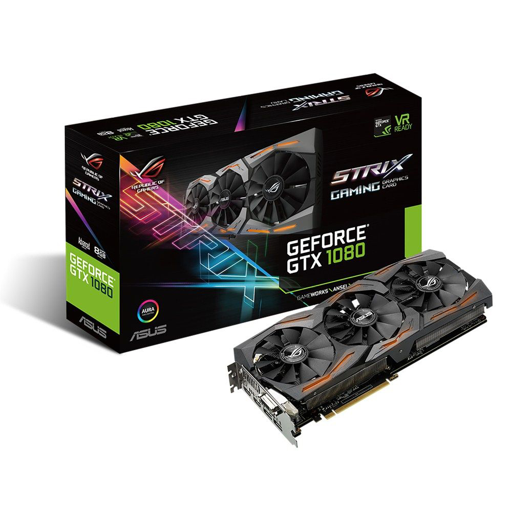 ASUS華碩 ROG STRIX-GTX1080-A8G-GAMING 顯示卡