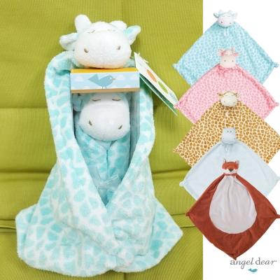 【彌月禮】美國 Angel Dear 動物嬰兒安撫巾禮盒版-小浣熊