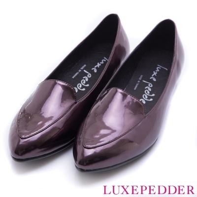 Luxepedder正韓-MIT金屬尖頭紳士鞋黑