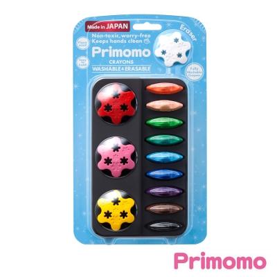 Primomo-普麗貓趣味蠟筆(花瓣型)12色-附橡皮擦