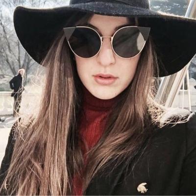 FENDI 廣告主打 貓眼款 太陽眼鏡 (金色)FF0190S