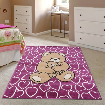 Ambience-比利時Luna 兒童遊戲地毯--小熊(100x150cm).