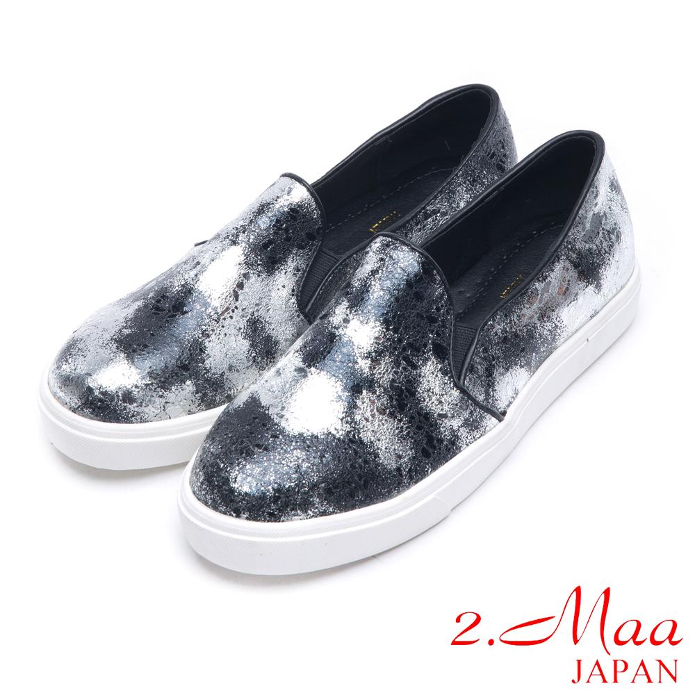 2.Maa-真皮系列-個性時尚厚底休閒樂福鞋-個性黑