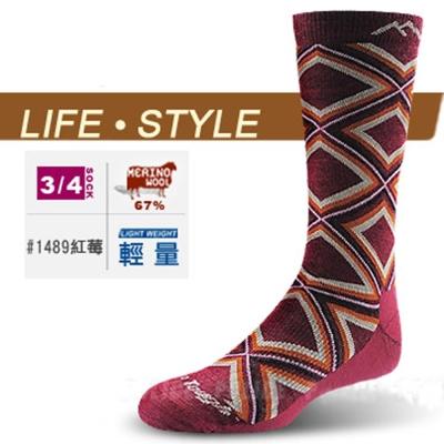 【DARN TOUGH 】VERMONT 美麗諾羊毛襪(2入)_紅莓