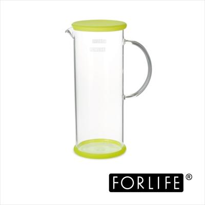 美國FORLIFE 沁涼玻璃果茶壺1420ML-奇異果綠