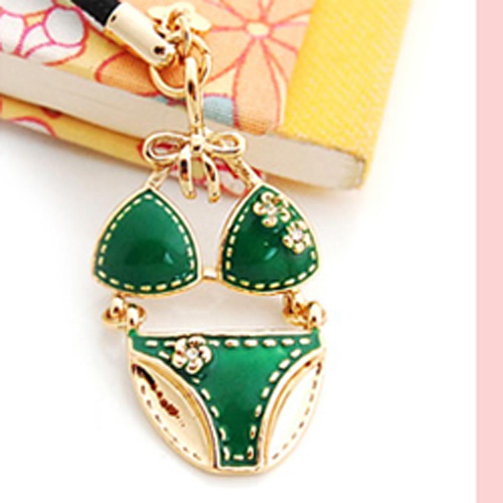Aimee Toff 時尚花朵比基尼可愛手機吊飾(綠)