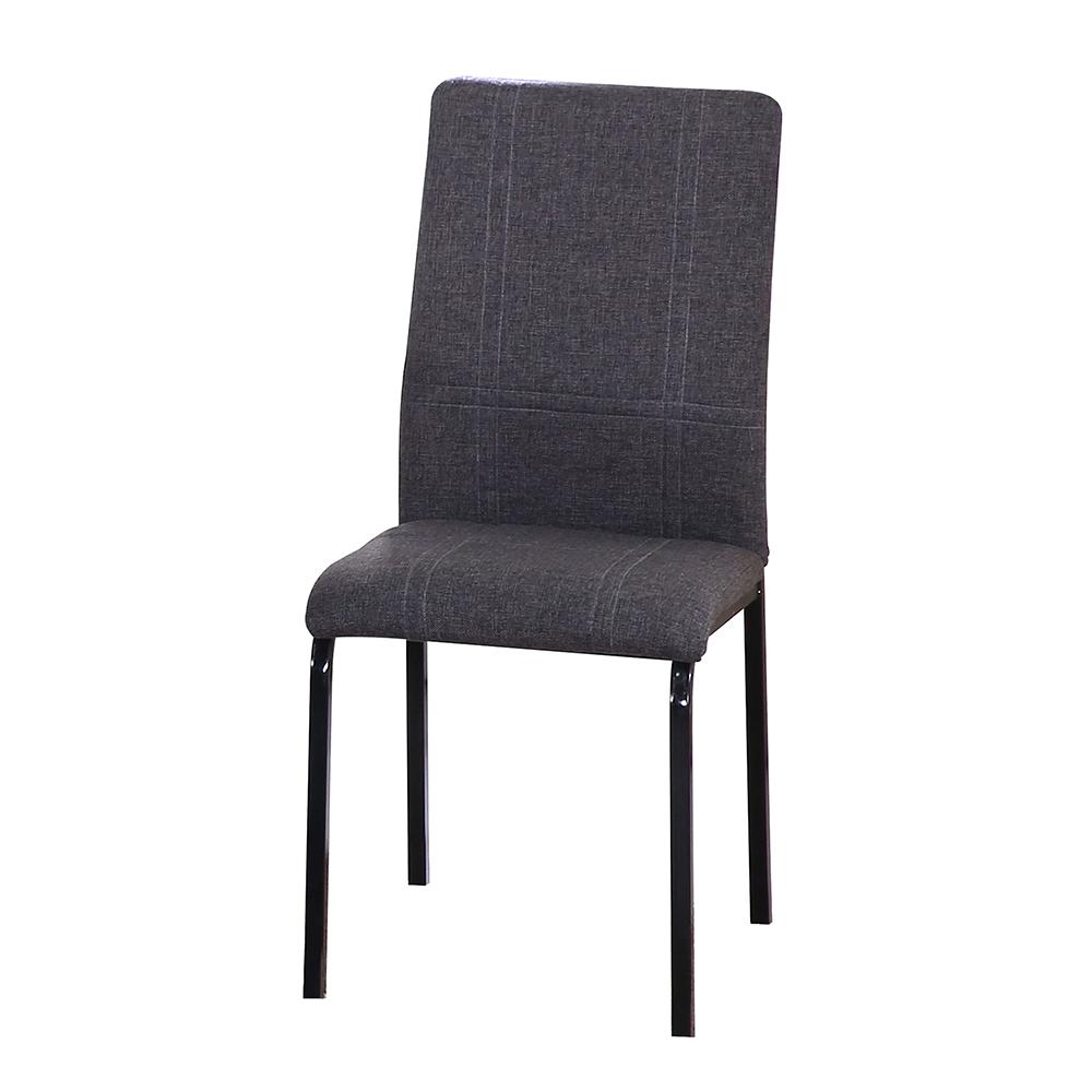 AT HOME-道奇黑色灰布餐椅