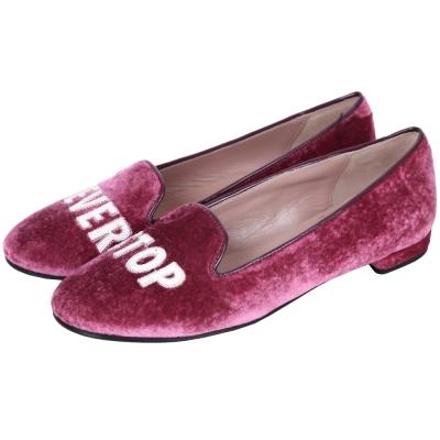 Chiara Ferragni Neverstop 天鵝絨樂福鞋(櫻桃紅)