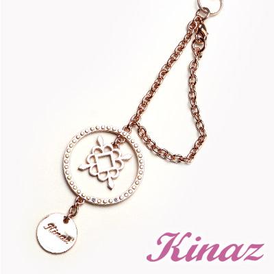 KINAZ-糖果小物系列-皇室鏤空美鑽吊飾-玫瑰金