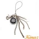 KINAZ - 糖果小物系列~閃耀垂綴金屬牌吊飾-黑