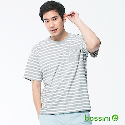 bossini男裝-圓領短袖T恤03淺灰