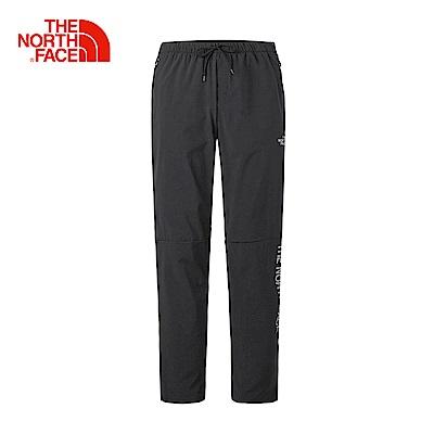 The North Face北面男款黑色防潑水戶外休閒長褲
