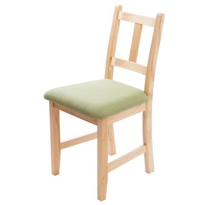 CiS自然行實木家具- 南法實木書椅(扁柏自然色)抹茶綠椅墊