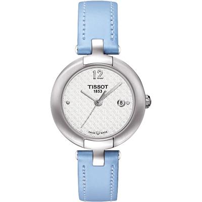 TISSOT Pinky 優雅女仕時尚腕錶-銀x藍/ 28 mm