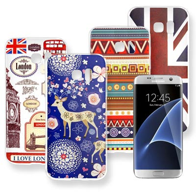 VXTRA 三星 Galaxy S7 edge 率性風格 彩繪軟式手機殼