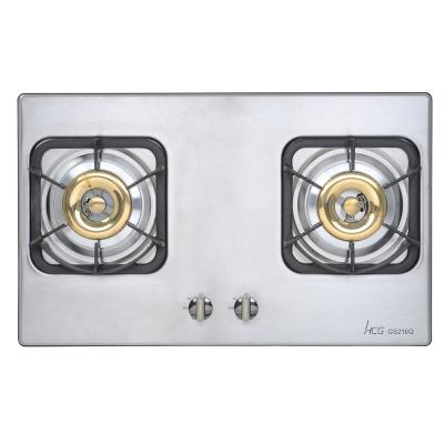 和成HCG 雙環銅合金爐頭鑄鐵爐架不鏽鋼檯面式二口瓦斯爐(GS216Q)