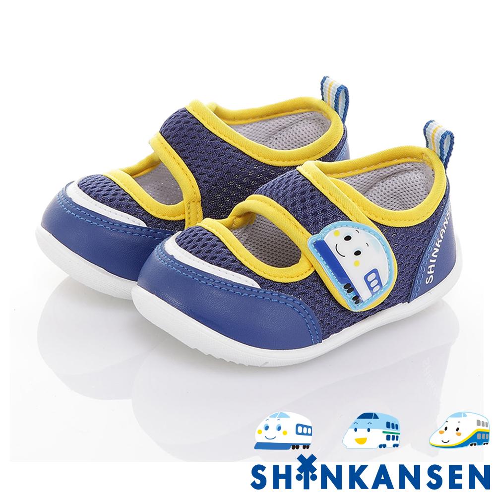 三麗鷗 新幹線童鞋 輕量透氣抗菌防臭學步鞋-可室內-藍