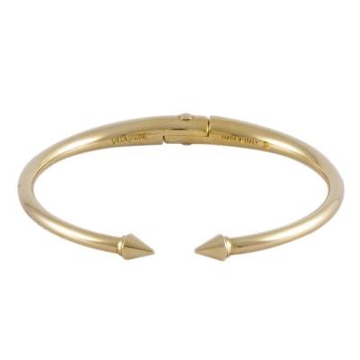 VITA FEDE義大利品牌 鉚釘金色C式細手環手鍊