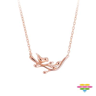 彩糖鑽工坊 青鳥項鍊 銀鍍玫瑰金項鍊 桃樂絲 Doris系列
