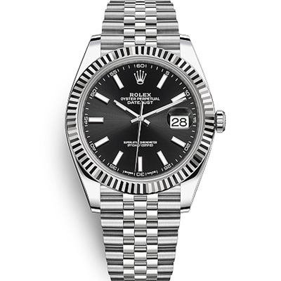 (現金分期24期)ROLEX 勞力士Datejust 蠔式恆動紀念型錶帶腕錶黑面-41mm