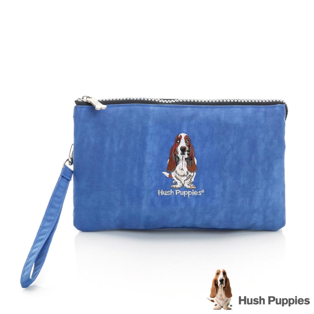 Hush Puppies 繽紛尼龍手拿包 -寶藍色
