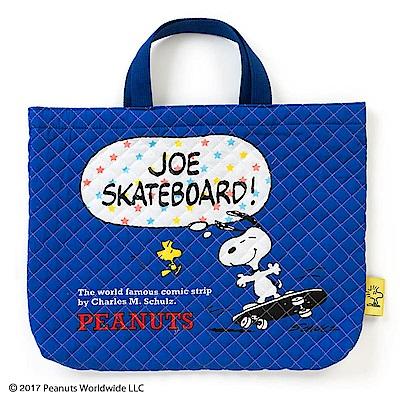 Sanrio SNOOPY日本製布面提袋/補習提袋(趣味滑板)