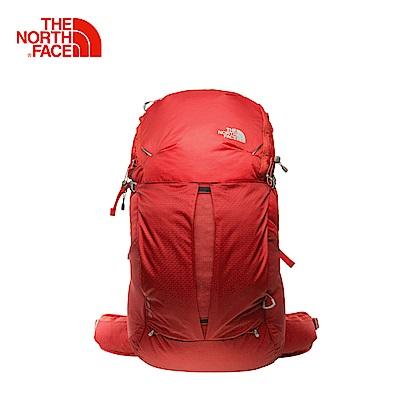 The North Face北面紅色輕巧便捷技術背包