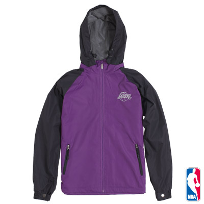 NBA-洛杉磯湖人隊連帽運動風衣外套-紫(男)