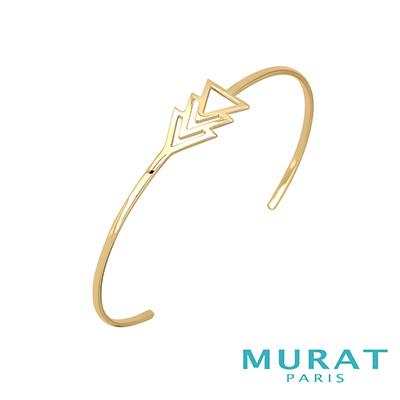 MURAT Paris米哈巴黎 多層次幾何手環(金色款)