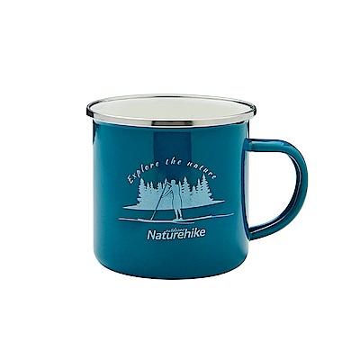 Naturehike 戶外旅行簡約風琺瑯杯 搪瓷杯 馬克杯 綠色-快速到貨