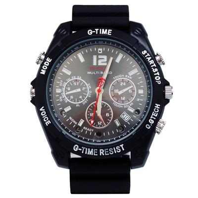 【CHICHIAU】1080P偽裝防水橡膠帶手錶16G夜視微型攝影機
